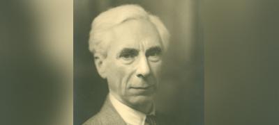 Photograph of Bertrand Russel