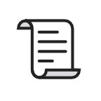 Icon of a piece of paper with line text written on it